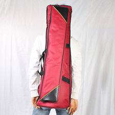 New Tenor Trombone Soft Gig Bag Case Double Aglet Design Purplish Red