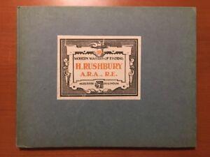 Henry Rushbury Modern Masters Of Etching 1928 Folio 12 Art Quality Litho Plates