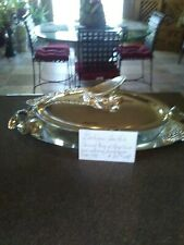 New listing Godinger Silver Plate Covered Serving Dish
