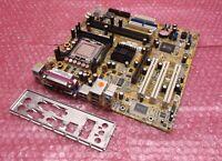 ASUS P5S800-VM/S LGA775 Socket 775 VGA AGP PCI Motherboard and Backplate