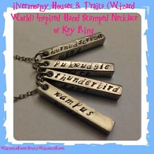 ilvermorny House & Traits Stamped Necklace Or Key Ring Harry Potter Geeky Gift