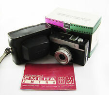 Lomo Smena 8M Triplet-43 4/40 35mm Compact Film Camera case EXC old variant