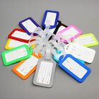 10PC Travel Luggage Bag Tag Name Address ID Label Plastic Suitcase Baggage Tags