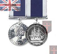 Official LS&GCM Royal Navy Long Service & Good Conduct Miniature Medal + Ribbon