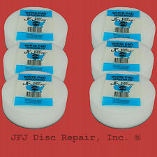 6 JFJ White Buffing Pads * Single/Double - Save Money & Use Original Supplies