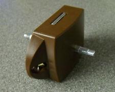 Caravan motorhome push button toilet door brown lock - rod version TDL2