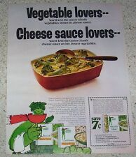 1972 ad page - Jolly Green Giant vegetables & cheese frozen food Print ADVERT