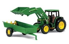 John Deere 1 32 Scale 6210 Tractor With Loader And Manure Spreader