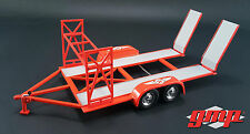 TANDEM CAR TRAILER TEXACO W/ TIRE RACK 1/18 SCALE DIECAST MODEL BY GMP 18868