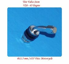 "1 kit Chrome Tire Valve Stem 45 Degree for Holes Φ11.5 mm /.453"" Fits:Motorcycle"