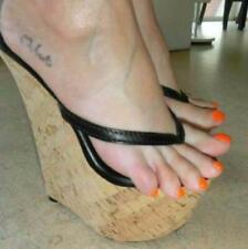 2021 Sommer Sandalen Extreme High Heels Holz-Optik Platform Mules Damen Schuhe