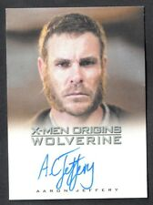 X-MEN ORIGINS: WOLVERINE (Rittenhouse 2009) AUTOGRAPH CARD by AARON JEFFERY