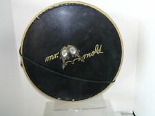Vintage 1950's Original Hat Box Mr. Arnold Black Gold Jewelled Crown carryall