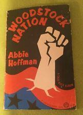 Vintage ~ Woodstock Nation ~ Abby Hoffman ~ 1969 ~ Fifth Printing