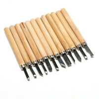 12 pcs DIY Wood Carving Knife Woodworking Engraving Tool Manual Knife