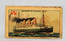 Wizard Series Famous Liners Trading Card Empress of Canada Tobacco premium CP