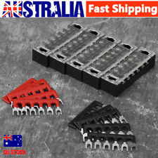 Dual Row 6positions Screw Barrier Terminal Blocks Strip Connector 600v 15a