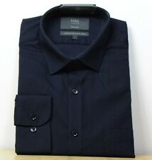 "M&s Regular Fit Cotton langarm Shirt ~ Gr. 16"" ~ schwarz"