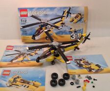 Lego Creator 31023 Yellow Racers 3 In 1:  Helicopter, Boat, or Race Car COMPLETE