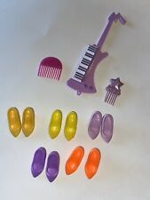 Vintage JEM AND THE HOLOGRAMS SHOES & ACCESSORIES LOT Guitar Combs +