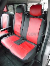 TO FIT A RENAULT MASTER VAN, SEAT COVERS, 2010 ONWARDS FLAT BED, RED / BLACK