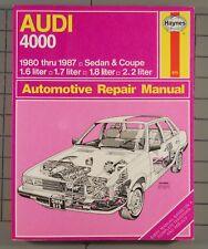 Audi 4000 1980-1987 Automotive Repair Manual