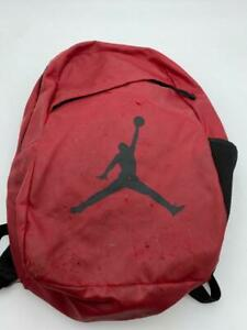 Nike Jordan Jumpman Backpack Red Hiking Gym School Book Bag Duffle
