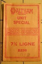 Vintage Nos Waltham Unit Special Watch Mainspring 7 1/4 Ligne No 2238 .012