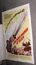 LONE WOLF AND CUB/BABY CART TO HADES original 1974 movie poster LIGHTNING SWORDS