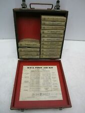 Vintage M-S-A Mine Safety Red First Aid Kid Loaded With Gauze Tourniquet Etc.