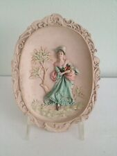 Vintage Soapstone Lady With Flowers