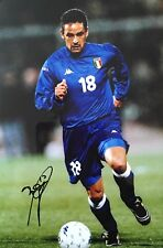 Roberto Baggio in person signed Italy 12x8 photo Image H UACC AFTAL Approved COA