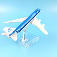 Sn _ Wo _16cm Métal Miniature Air Klm Plan 747 Air Airlines Avion Airplane MO