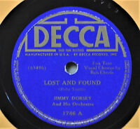 Jimmy Dorsey Lost and Found 78 Decca 1746 I Can't Face the Music June Richmond