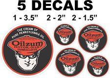 5 Round The Cream of Pennsylvania Pure Oil Oilzum Vinyl Decals