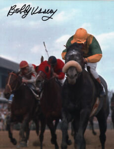 """Dancer's Image 1968 Kentucky Derby DQ  8"""" x 10"""" photo Signed Bobby Ussery."""