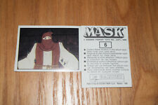Mask Panini sticker 1986 ( M.A.S.K.  Kenner parker toys ) number 6