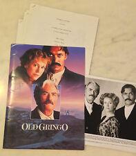 OLD GRINGO (1989) Press Kit Folder, Photos, Notes; Gregory Peck, Jane Fonda