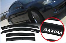 Fit For 04-08 Nissan Maxima Window Visor Rain Guard Vent Shade w/ Sticker (Fits: Nissan)