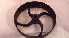 "Antique Flat Belt Pulley Wheel 9 1/2"" Diam. Steampunk #615"