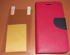Wallet flip case Alcatel One Touch Fierce 2 7040T, Red & Black, magnetic flap