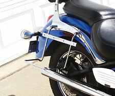 Kawasaki VN900 Classico Stile Custom Cromo Sella Paniere Staffe di Supporto