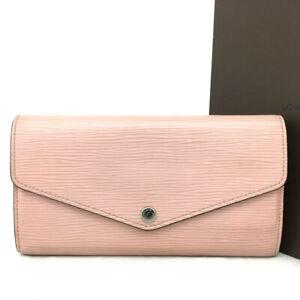 Louis Vuitton Epi Porte Feuille Sarah Pink Leather Long Bifold Wallet /E1328