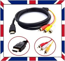 1.5m HDMI Male to 3 RCA 3RCA Male Cable Audio Projector Video DVD 1080p HDTV 4k