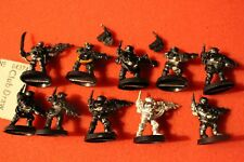 Games Workshop Warhammer 40k Kasrkin Stormtroopers Squad Metal 10 Figures OOP