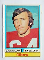 Dave Wilcox #190 Topps 1974 Football Card (San Francisco 49ers) VG