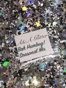 Nail Art Glitter (Bah Humbug!) Chunky Cosmetic Glitter 5g Bag