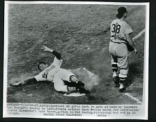 Al Dark & Hank Foiles 1956 Press Photo St. Louis Cardinals Pittsburgh Pirates
