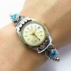 Shirley Henry Navajo & Timex Old Pawn 925 Sterling Silver Turquoise Coral Watch