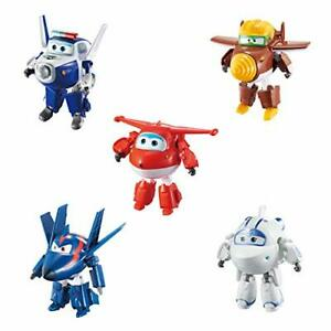 """Super Wings - 5"""" Transforming 5-Pack Jett Paul Todd Astra and Agent Chase 